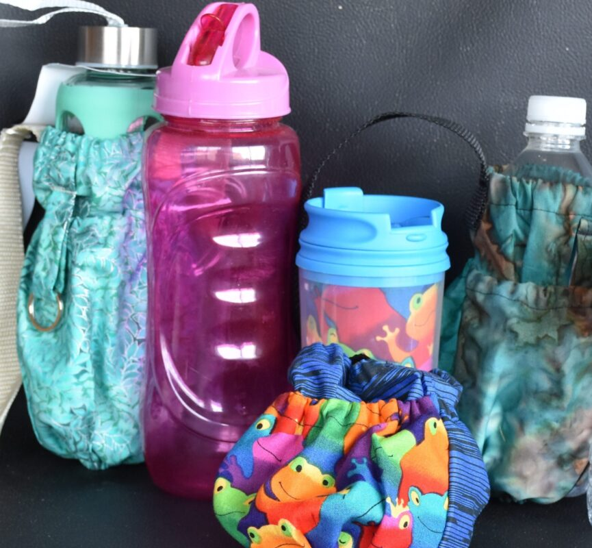 Water bottle caddy collection